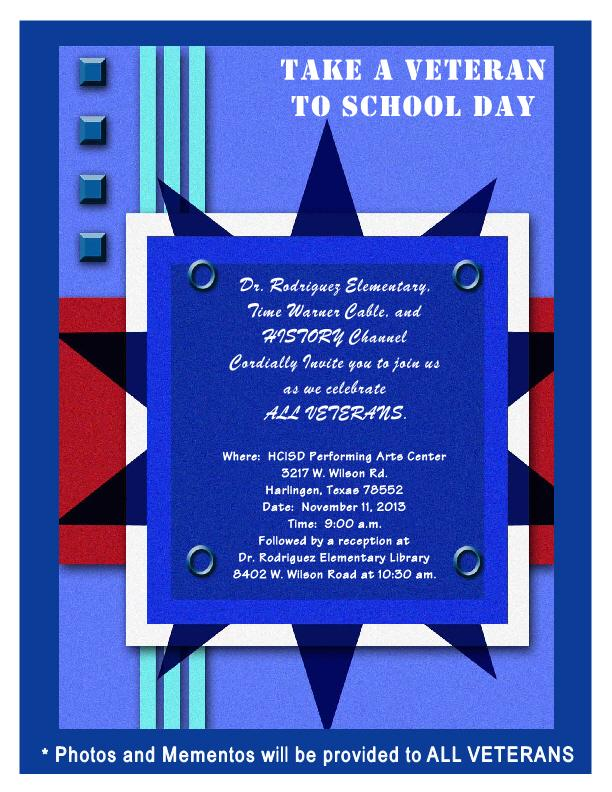 take a veteran to school day invite single